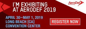I'm Exhibiting at AeroDef 2019 | April 29-May 2, 2019 | Register Now