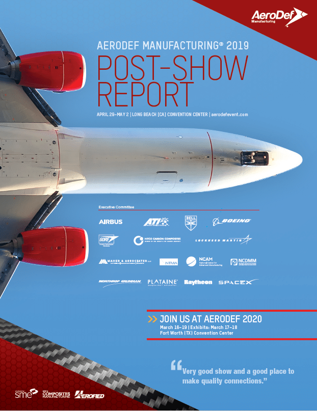 AeroDef 2019 Post Show Report Cover Image